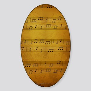 Vintage Sheet Music Sticker (Oval)