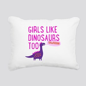 Girls Like Dinosaurs Too RAWRRHH Rectangular Canva