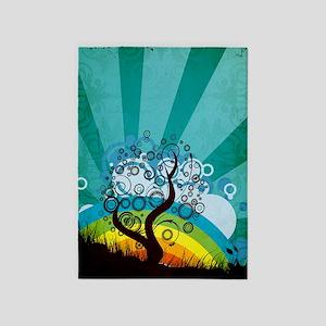 Tree Rainbow 5'x7'Area Rug
