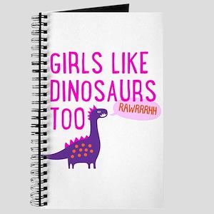 Girls Like Dinosaurs Too RAWRRHH Journal