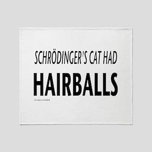 Schrodingers cat Throw Blanket