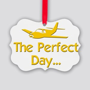 pilot airplane flying Picture Ornament
