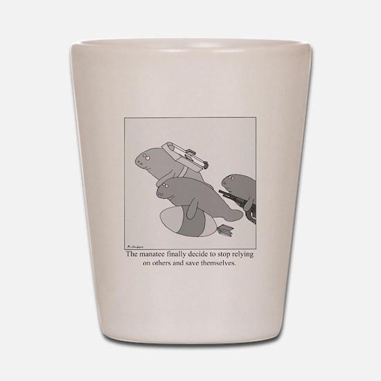 Save the Manatee Shot Glass