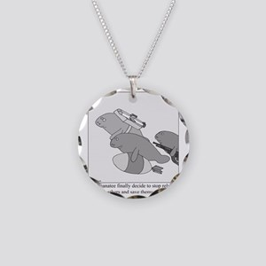 Save the Manatee Necklace Circle Charm