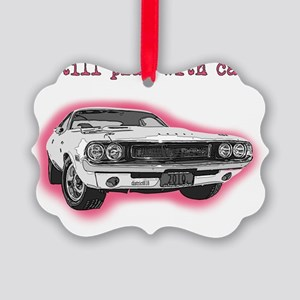dodge_challenger_red Picture Ornament