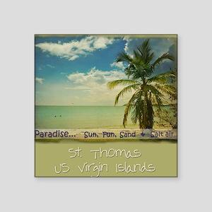 "paradiset10x10_apparel Square Sticker 3"" x 3"""