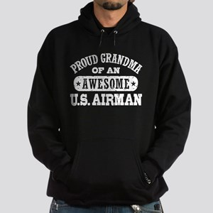 Proud Grandma of an Awesome US Airman Hoodie (dark