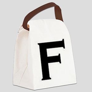 F Canvas Lunch Bag