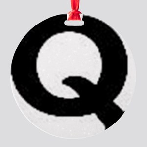 Q Round Ornament