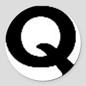 Q Round Car Magnet