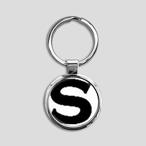 S Round Keychain