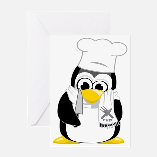 Chef-Penguin-Scarf Greeting Card