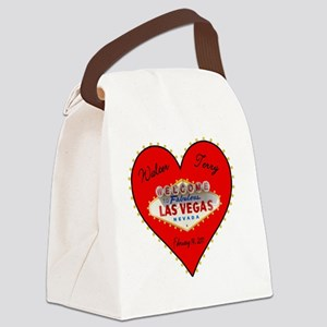 Walter and Terry Valentines Day Canvas Lunch Bag