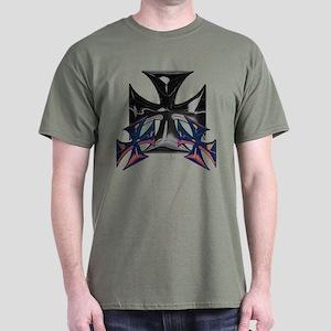 Black Ice Iron Cross Dark T-Shirt