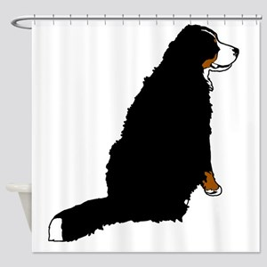 Sitting Bernese Mountain Dog (no-lo Shower Curtain