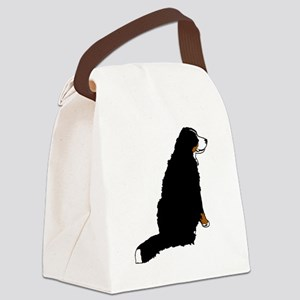 Sitting Bernese Mountain Dog (no- Canvas Lunch Bag