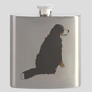 Sitting Bernese Mountain Dog (no-logo)01 Flask
