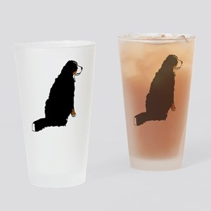 Sitting Bernese Mountain Dog (no-lo Drinking Glass