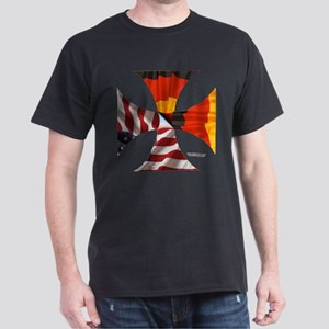 German-American Cross Dark T-Shirt