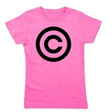 Copyright symbol Girl's Dark T-Shirt