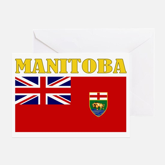 Manitoba-Flag Greeting Card