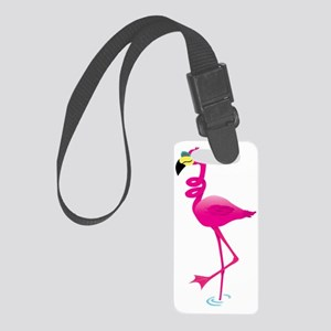 Cool Pink Flamingo Small Luggage Tag