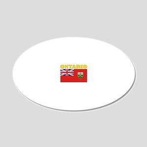 Ontario-Flag 20x12 Oval Wall Decal