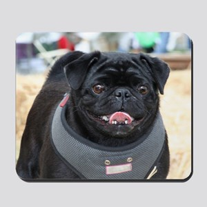 Black Pug Dog Mousepad