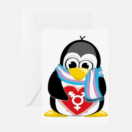 Transgender-Penguin-Scarf Greeting Card