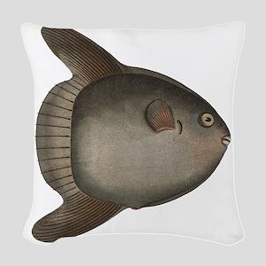 Mola Mola Giant Ocean Sunfish Woven Throw Pillow