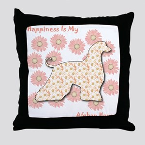 Afghan Happiness Throw Pillow