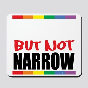 Straingt-But-Not-Narrow-blk Mousepad