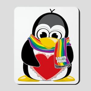 LGBTQ-Pride-Penguin-Scarf Mousepad