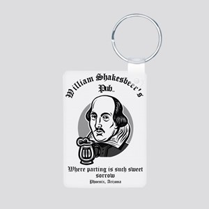 William Shakesbeer Parting Aluminum Photo Keychain