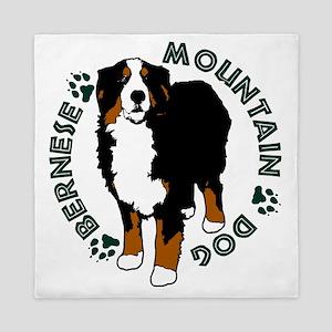 Standing Bernese Mountain Dog 02 Queen Duvet