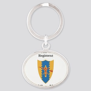 1st Squadron 4th Cav Oval Keychain
