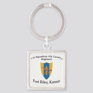 1st Squadron 4th Cav Square Keychain