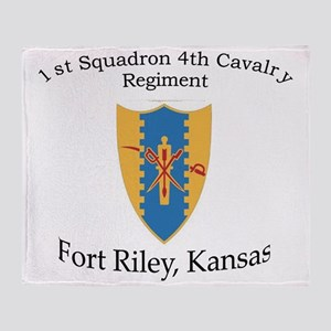 1st Squadron 4th Cav Throw Blanket