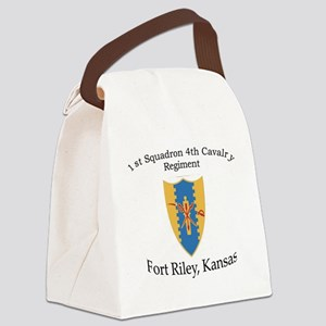1st Squadron 4th Cav Canvas Lunch Bag