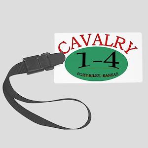 1st Squadron 4th Cav cap3 Large Luggage Tag