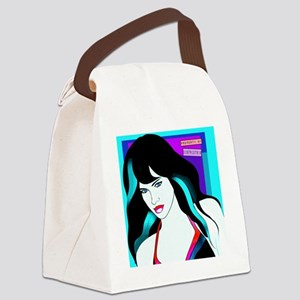 patrick_nagel_influenced_art Canvas Lunch Bag