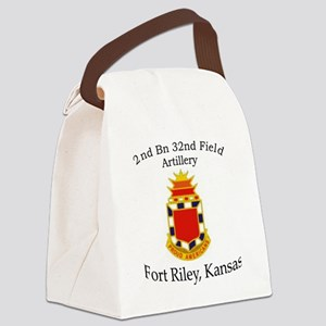 2nd Bn 32nd FA Canvas Lunch Bag