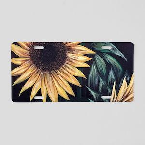 Sunflower Life Aluminum License Plate