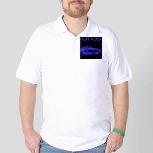 hot_rod_blue Golf Shirt