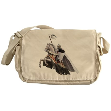 templar on rearing horse coloured la Messenger Bag