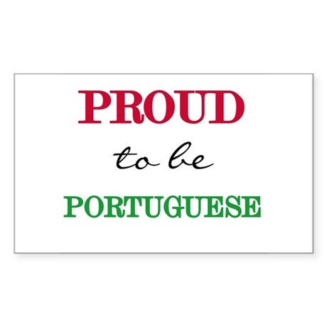 Portuguese Pride Rectangle Sticker