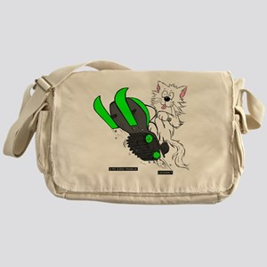 Snowmobile Green for Dark Apparel Messenger Bag