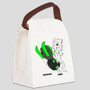 Snowmobile Green for Dark Apparel Canvas Lunch Bag