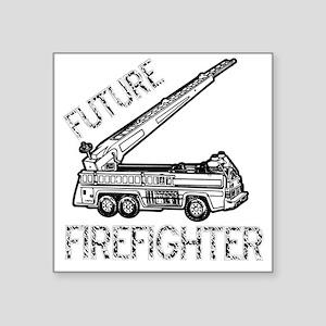"""FUTURE-FIREFIGHTER Square Sticker 3"""" x 3"""""""