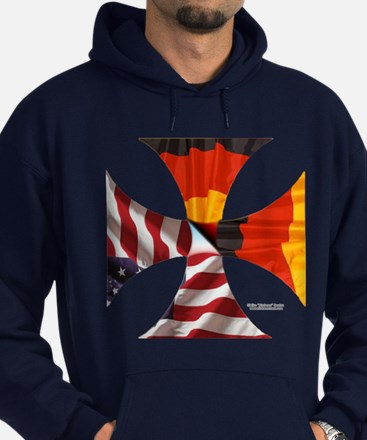 German American Cross Hoodie (dark)